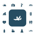 set of 13 editable folks icons includes symbols vector image vector image