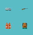 set of camping icons flat style symbols with life vector image