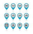 Set of instruction laundry icons care icons vector image vector image