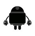 smart robot future technologies theme on white vector image