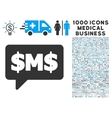 SMS Bubble Icon with 1000 Medical Business Symbols vector image vector image