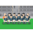 Soccer team before match flat graphic stand vector image vector image