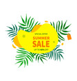 summer sale banner template summer vector image