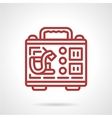 Tattoo kit red line icon vector image