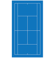 Tennis court blue vector image vector image