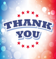 thank you banner on celebration background 2 vector image vector image