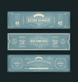 vintage website banners templates vector image