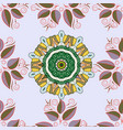watercolor pattern with leaves seamless natural vector image