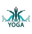 Yoga asanas im paper cut style yoga pactice