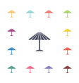 parasol mask flat icons set vector image