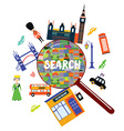 London landmark searching concept vector image