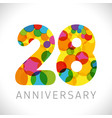 28 years anniversary circle colorful logo vector image vector image