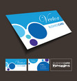 A front and back business card