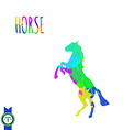 Abstract Colorful Horse Silhouette vector image