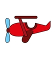 airplane cute toy icon vector image vector image