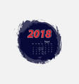 august 2018 calendar templates vector image vector image