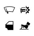 auto parts simple related icons vector image