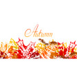 background with printed leaves vector image
