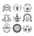 beer icons for brewery bar pub or product vector image