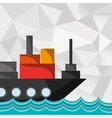 cargo ship on water image vector image vector image