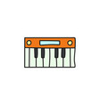 cartoon electronic synthesizer icon vector image