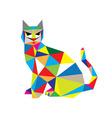 Cat in Modern Art vector image