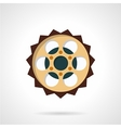 Chain sprocket flat color icon vector image vector image