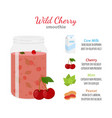 cherry smoothie organic recipe fresh ingredients vector image vector image