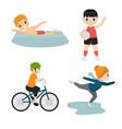 children sport children sport vector image vector image