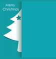 christmas tree paper with shadow background vector image