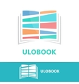 colored book logo concept vector image vector image