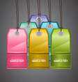 Colourful Price Tags vector image vector image
