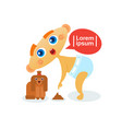 cute baby boy playing with dog toddler happy vector image vector image