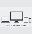 device icons set - smartphone tablet laptop and vector image vector image