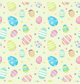 easter eggs - decorated eggs seamless vector image vector image