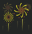 fireworks and celebration vector image
