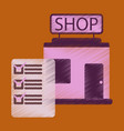 flat icon in shading style shop form vector image vector image