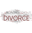 Florida divorce law text background word cloud