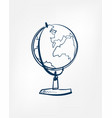 globe one line design element isolated vector image