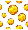 Gold football soccer seamless background vector image vector image
