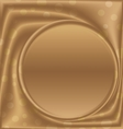 gold picture frame bottom of the circle vector image vector image