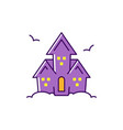 haunted house colorful flat halloween icon vector image vector image