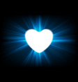 heart and glowing luminous effect background vector image