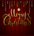 Holiday banner with decoration festive red