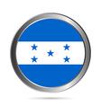 Honduras flag button vector image vector image