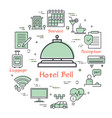 hotel service square concept - hotel bell vector image vector image
