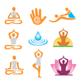 icons yoga spa massage vector image vector image