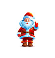 isolated character santa claus vector image