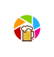 lens beer logo icon design vector image