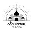 line art logo design for holy month ramadan kareem vector image